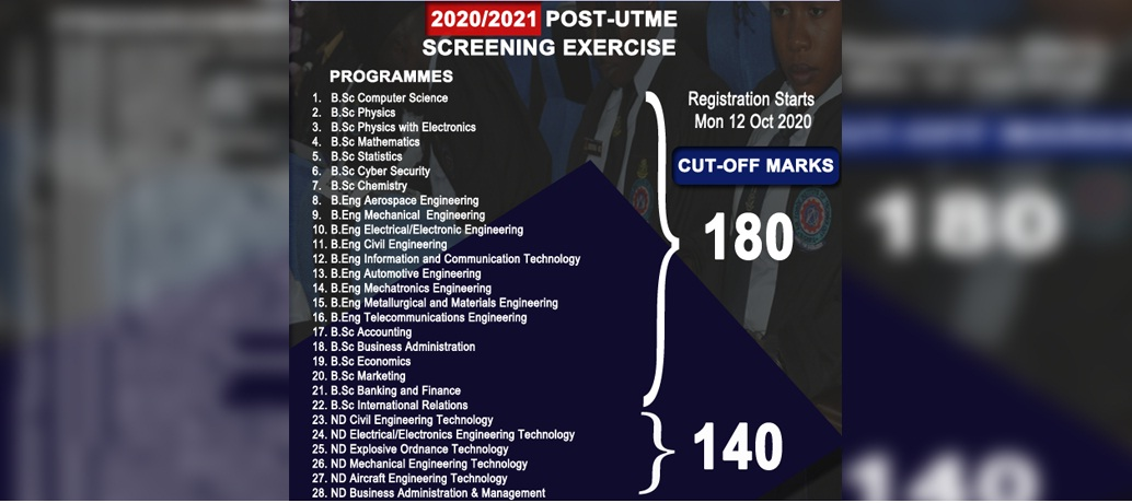AFIT 2020 2021 Post UTME Registration Form Portal