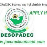DESOPADEC Bursary Application Form Portal