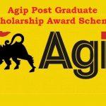 Agip Post Graduate Scholarship Award Scheme